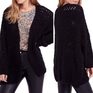 Free people open knit oversized cardigan sweater